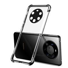 Custodia Silicone Trasparente Ultra Sottile Cover Morbida H01 per Huawei Mate 40 Pro+ Plus Nero