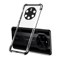 Custodia Silicone Trasparente Ultra Sottile Cover Morbida H01 per Huawei Mate 40 RS Nero