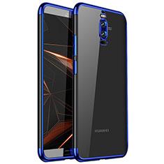 Custodia Silicone Trasparente Ultra Sottile Cover Morbida H01 per Huawei Mate 9 Pro Blu