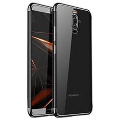 Custodia Silicone Trasparente Ultra Sottile Cover Morbida H01 per Huawei Mate 9 Pro Nero