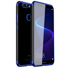 Custodia Silicone Trasparente Ultra Sottile Cover Morbida H01 per Huawei Nova 2 Blu