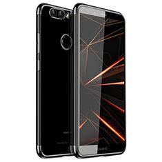 Custodia Silicone Trasparente Ultra Sottile Cover Morbida H01 per Huawei Nova 2 Plus Nero