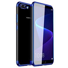 Custodia Silicone Trasparente Ultra Sottile Cover Morbida H01 per Huawei Nova 2S Blu