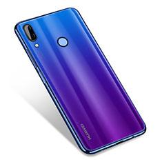 Custodia Silicone Trasparente Ultra Sottile Cover Morbida H01 per Huawei Nova 3 Blu