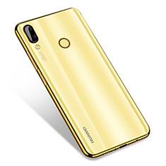 Custodia Silicone Trasparente Ultra Sottile Cover Morbida H01 per Huawei Nova 3 Oro