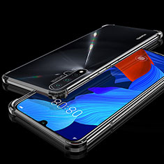 Custodia Silicone Trasparente Ultra Sottile Cover Morbida H01 per Huawei Nova 5 Nero