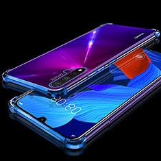 Custodia Silicone Trasparente Ultra Sottile Cover Morbida H01 per Huawei Nova 5 Pro Blu