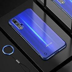 Custodia Silicone Trasparente Ultra Sottile Cover Morbida H01 per Huawei Nova 5T Blu