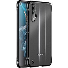 Custodia Silicone Trasparente Ultra Sottile Cover Morbida H01 per Huawei Nova 5T Nero