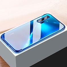 Custodia Silicone Trasparente Ultra Sottile Cover Morbida H01 per Huawei Nova 6 5G Blu