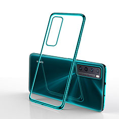 Custodia Silicone Trasparente Ultra Sottile Cover Morbida H01 per Huawei Nova 7 5G Verde