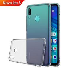 Custodia Silicone Trasparente Ultra Sottile Cover Morbida H01 per Huawei Nova Lite 3 Grigio