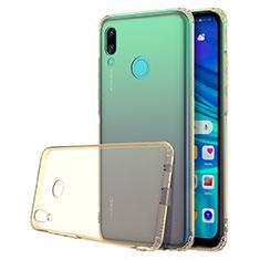 Custodia Silicone Trasparente Ultra Sottile Cover Morbida H01 per Huawei Nova Lite 3 Oro