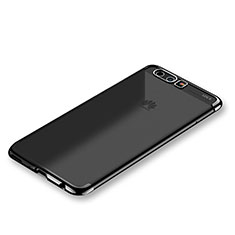 Custodia Silicone Trasparente Ultra Sottile Cover Morbida H01 per Huawei P10 Nero