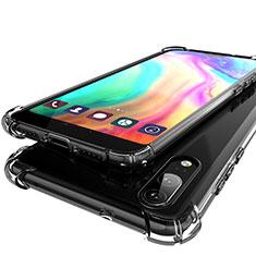 Custodia Silicone Trasparente Ultra Sottile Cover Morbida H01 per Huawei P20 Grigio