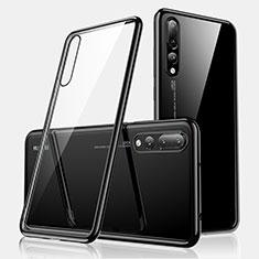 Custodia Silicone Trasparente Ultra Sottile Cover Morbida H01 per Huawei P20 Pro Nero