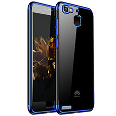 Custodia Silicone Trasparente Ultra Sottile Cover Morbida H01 per Huawei P8 Lite Smart Blu