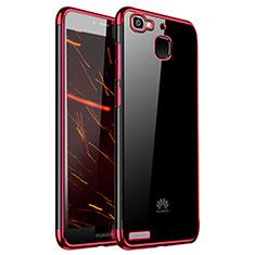 Custodia Silicone Trasparente Ultra Sottile Cover Morbida H01 per Huawei P8 Lite Smart Rosso