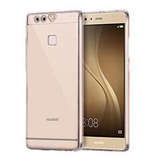 Custodia Silicone Trasparente Ultra Sottile Cover Morbida H01 per Huawei P9 Plus Chiaro