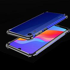 Custodia Silicone Trasparente Ultra Sottile Cover Morbida H01 per Huawei Y6 (2019) Nero