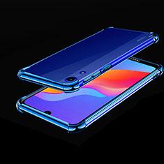 Custodia Silicone Trasparente Ultra Sottile Cover Morbida H01 per Huawei Y6s Blu