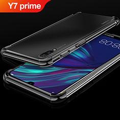 Custodia Silicone Trasparente Ultra Sottile Cover Morbida H01 per Huawei Y7 Prime (2019) Nero