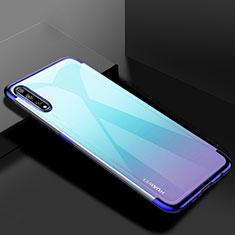 Custodia Silicone Trasparente Ultra Sottile Cover Morbida H01 per Huawei Y8p Blu