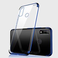 Custodia Silicone Trasparente Ultra Sottile Cover Morbida H01 per Huawei Y8s Blu