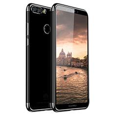 Custodia Silicone Trasparente Ultra Sottile Cover Morbida H01 per Huawei Y9 (2018) Nero
