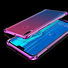 Custodia Silicone Trasparente Ultra Sottile Cover Morbida H01 per Huawei Y9 (2019) Viola