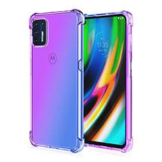 Custodia Silicone Trasparente Ultra Sottile Cover Morbida H01 per Motorola Moto G9 Plus Viola