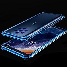 Custodia Silicone Trasparente Ultra Sottile Cover Morbida H01 per Nokia 9 PureView Blu
