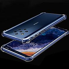 Custodia Silicone Trasparente Ultra Sottile Cover Morbida H01 per Nokia 9 PureView Chiaro