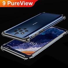 Custodia Silicone Trasparente Ultra Sottile Cover Morbida H01 per Nokia 9 PureView Nero
