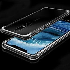 Custodia Silicone Trasparente Ultra Sottile Cover Morbida H01 per Nokia X5 Chiaro