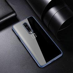 Custodia Silicone Trasparente Ultra Sottile Cover Morbida H01 per OnePlus 7 Pro Blu