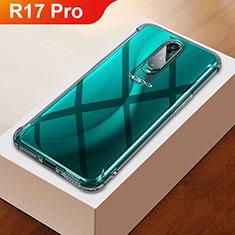 Custodia Silicone Trasparente Ultra Sottile Cover Morbida H01 per Oppo R17 Pro Argento