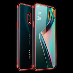 Custodia Silicone Trasparente Ultra Sottile Cover Morbida H01 per Oppo Realme X Rosso