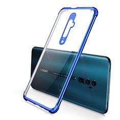 Custodia Silicone Trasparente Ultra Sottile Cover Morbida H01 per Oppo Reno 10X Zoom Blu