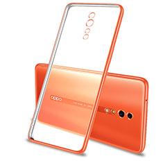Custodia Silicone Trasparente Ultra Sottile Cover Morbida H01 per Oppo Reno Z Arancione