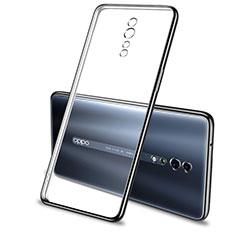 Custodia Silicone Trasparente Ultra Sottile Cover Morbida H01 per Oppo Reno Z Nero