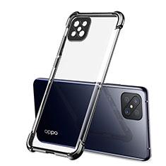 Custodia Silicone Trasparente Ultra Sottile Cover Morbida H01 per Oppo Reno4 Z 5G Nero