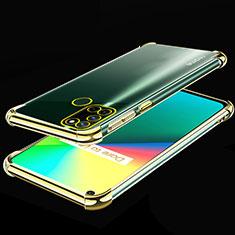 Custodia Silicone Trasparente Ultra Sottile Cover Morbida H01 per Realme C17 Oro
