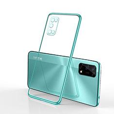 Custodia Silicone Trasparente Ultra Sottile Cover Morbida H01 per Realme V5 5G Verde