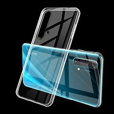 Custodia Silicone Trasparente Ultra Sottile Cover Morbida H01 per Realme X50 5G Chiaro