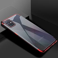 Custodia Silicone Trasparente Ultra Sottile Cover Morbida H01 per Samsung Galaxy A51 5G Rosso