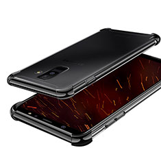Custodia Silicone Trasparente Ultra Sottile Cover Morbida H01 per Samsung Galaxy A6 Plus (2018) Nero