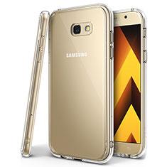 Custodia Silicone Trasparente Ultra Sottile Cover Morbida H01 per Samsung Galaxy A7 (2017) A720F Chiaro