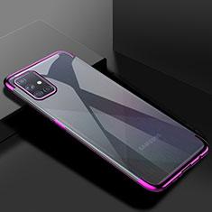 Custodia Silicone Trasparente Ultra Sottile Cover Morbida H01 per Samsung Galaxy A71 5G Viola