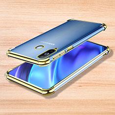 Custodia Silicone Trasparente Ultra Sottile Cover Morbida H01 per Samsung Galaxy A8s SM-G8870 Oro